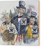 Cartoon: New Deal, 1933 Wood Print