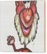 Cartoon No 56 Wood Print