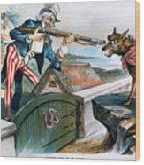 Cartoon: Panic Of 1893 Wood Print