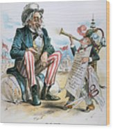 Cartoon: Uncle Sam, 1893 Wood Print