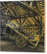 Carts Before The Horse Wood Print