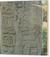Carved Danzantes Stone Wood Print