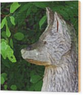 Carved Dogs Head Wood Print