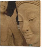 Carved Face Wood Print