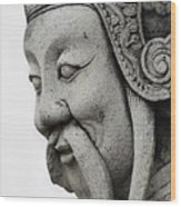 Carved Monk Statue Wood Print