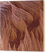 Carved Wave. Wood Print