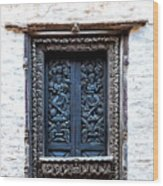 Carved Window Shutters Wood Print