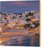 Carvoeiro In The Evening Wood Print