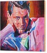 Cary Grant - Debonair Wood Print by David Lloyd Glover