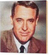 Cary Grant By John Springfield Wood Print