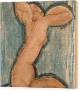 Caryatid Wood Print by Amedeo Modigliani