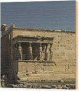 Caryatids Of The Erechtheum Wood Print