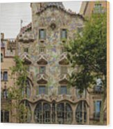 Casa Batllo In Barcelona, Spain Wood Print