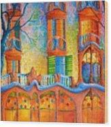 Barcelona Casa Batilo Wood Print