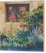 Casale Grande Rose Garden Wood Print