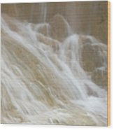 Cascade By The Limestone Pools In Huanglong Wood Print