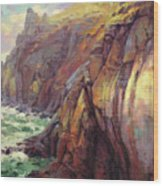 Cascade Head Wood Print