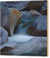 Cascade Wood Print by John Daly