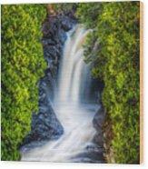 Cascade - Lower Falls Wood Print