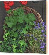 Cascade Of Flowers Wood Print