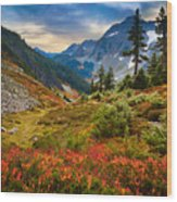 Cascade Pass Fall Wood Print by Inge Johnsson