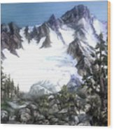 Cascade Splendor  Mount Fury Wood Print