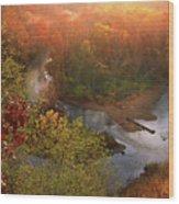 Cascade Valley Sunrise Wood Print