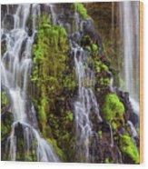 Cascades Of Burney Falls Wood Print