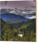 Cascades View Wood Print
