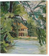Cascadilla Boathouse Ithaca New York Wood Print by Ethel Vrana