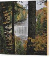 Cascading Colors Wood Print