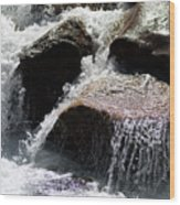 Cascading Waters Wood Print