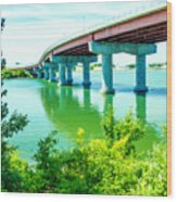 Casco Bay Bridge Wood Print