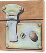 Case Latch Wood Print