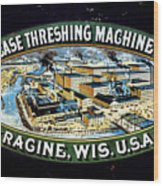 Case Threshing Machine Co Wood Print