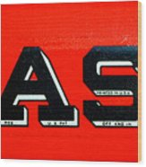 Case Tractor Nameplate Wood Print