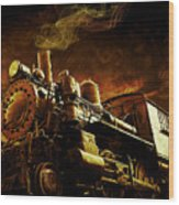 Casey Jones And The Cannonball Express Wood Print