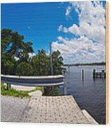 Casey Key Swing Bridge Open For Boats Wood Print