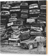 Cash For Clunkers Wood Print