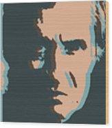 Cash Pop Art Poster Wood Print