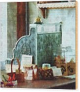 Cash Register In General Store Wood Print