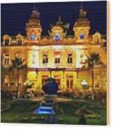 Casino Monte Carlo Wood Print by Jeff Kolker
