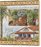 Casino San Clemente Wood Print
