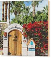 Casitas Laquita Palm Springs Wood Print