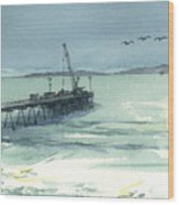 Casitas Pier 3 Wood Print