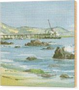 Casitas Pier II Wood Print