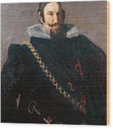 Caspar De Guzman Count Of Olivares Diego Rodriguez De Silva Y Velazquez Wood Print