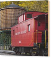 Cass Railroad Caboose Wood Print