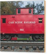 Cass Red Caboose Wood Print