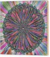 Cassandra -- Floral Disk Wood Print